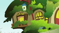 Fluttershy's cottage exterior; left side close-up S6E11