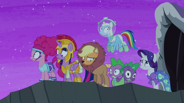 File:Main cast looks over the cliff's edge S5E21.png