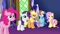 Main 5 and Spike wait for Twilight's reaction S5E3