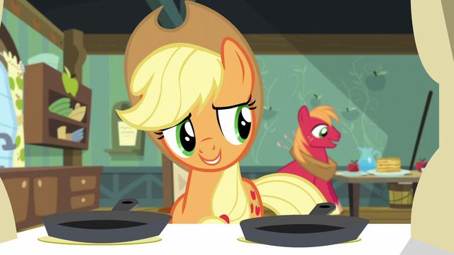 """File:Applejack """"somepony's feeling better"""" S5E4.png"""