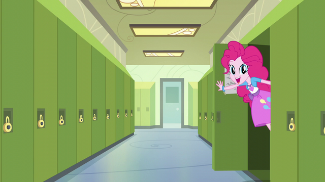 File:Pinkie Pie pops out of a locker EG3.png