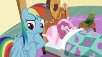 Rainbow Dash worried about Pinkie S6E15