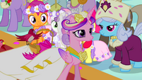 Princess Cadance walking down aisle S2E26