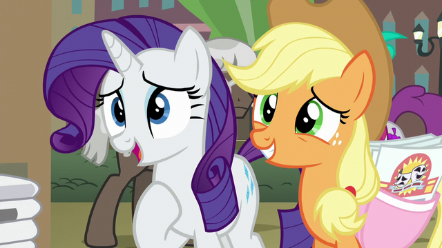 File:Rarity and Applejack asking for help S5E16.png
