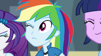 Rainbow Dash's eye pops open EG2