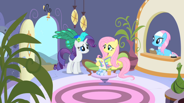 File:Rarity and Fluttershy arrive at the spa S1E20.png