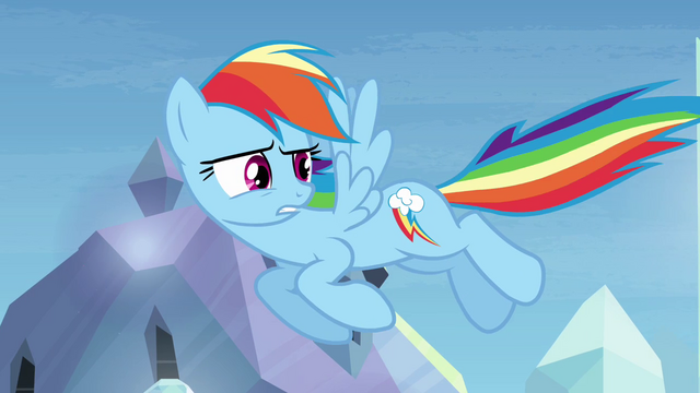 "File:Rainbow Dash ""I'll just ignore that"" S03E12.png"