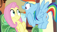 Rainbow Dash gasping with excitement S6E18
