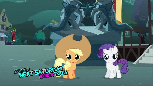 File:Applejack Rarity fillies magical miniature mares preview.png