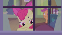 Apple Bloom looking out the window S4E17