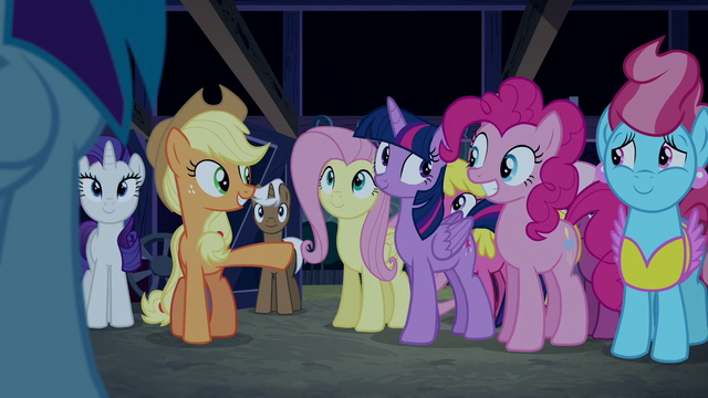 "File:Applejack ""you can thank Pinkie Pie"" S6E15.png"