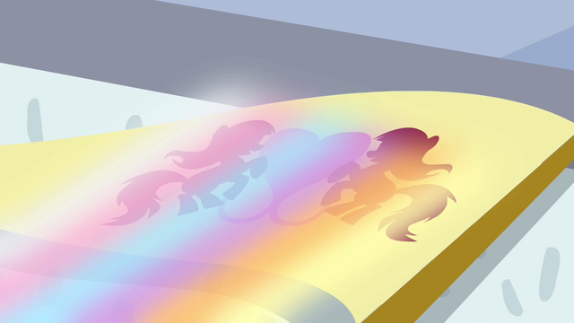 File:Rainbow shining on flag S4E10.png