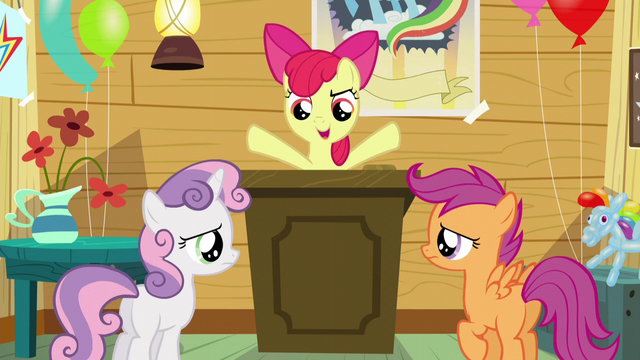 "File:Apple Bloom ""figure out how to get two more cutie marks"" S5E4.png"