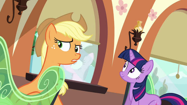 File:Applejack hears Spike's stomach growling S03E11.png