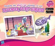 Lavender Spirit Airship promotion MLP mobile game