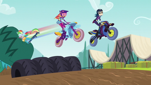File:Rainbow tackles vine; Sunset and Indigo jump row of tires EG3.png