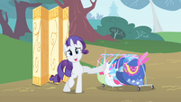 Rarity kicks clothes rack S1E20