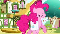 Pinkie Pie trotting past cafe S4E12
