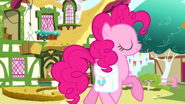 File:Pinkie Pie trotting past cafe S4E12.png
