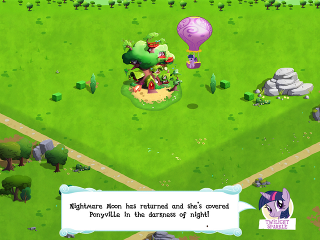 File:Twilight Sparkle landing in Ponyville MLP Game.png