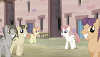 Equalized ponies walking S5E1