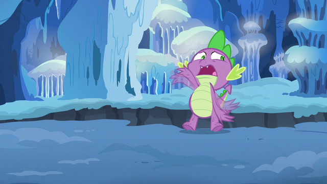 File:Spike about to fall into the chasm again S6E16.png