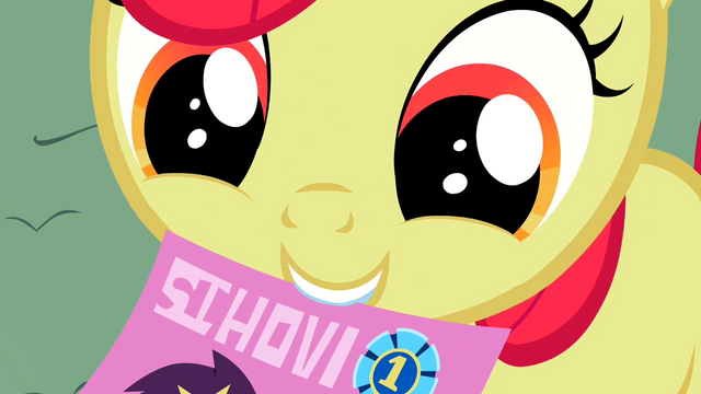 File:Apple Bloom holds a flyer S2E05.png