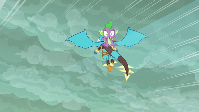 File:Ember flying with Spike on her back S6E5.png
