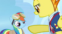 Rainbow Dash being pointed at S3E7