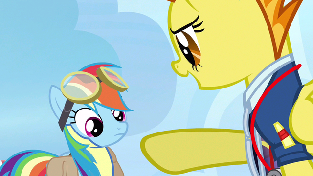 File:Rainbow Dash being pointed at S3E7.png