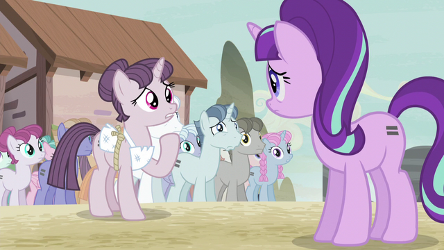 "File:Sugar Belle ""why did you take ours and not give up your own?"" S5E2.png"