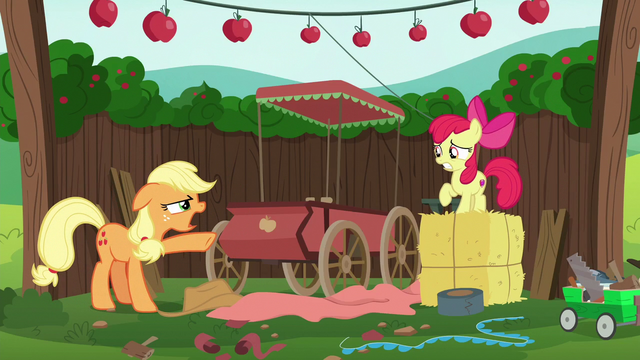 "File:Applejack ""I thought we covered this!"" S6E14.png"