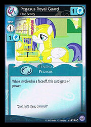 Pegasus Royal Guard, Elite Sentry card MLP CCG