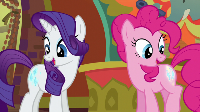 File:Rarity and Pinkie look at their cutie marks S6E12.png