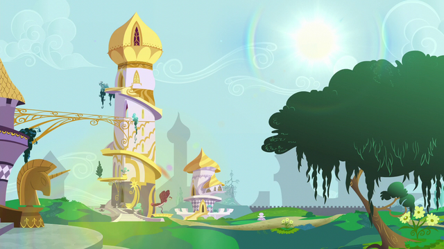 File:Twilight and Spike's old home in the morning S5E12.png