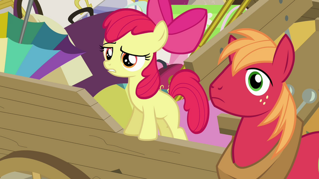 """File:Apple Bloom """"isn't that it on your head"""" S4E09.png"""