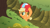 Applejack putting helmet on S02E03