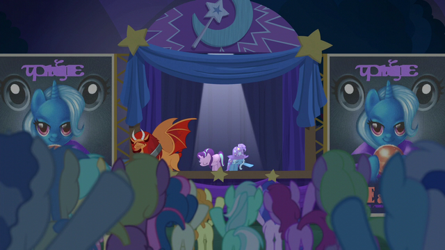 File:Starlight, Trixie, and manticore take a bow S6E6.png