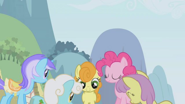 File:The ponies crowd around Twilight S1E03.png