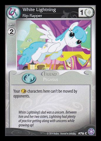 File:White Lightning, Flip Flapper card MLP CCG.jpg