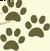 Drei Hundepfotenabdücke