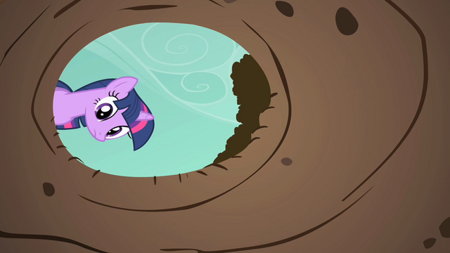 File:Twilight Sparkle look down hole S01E19.png
