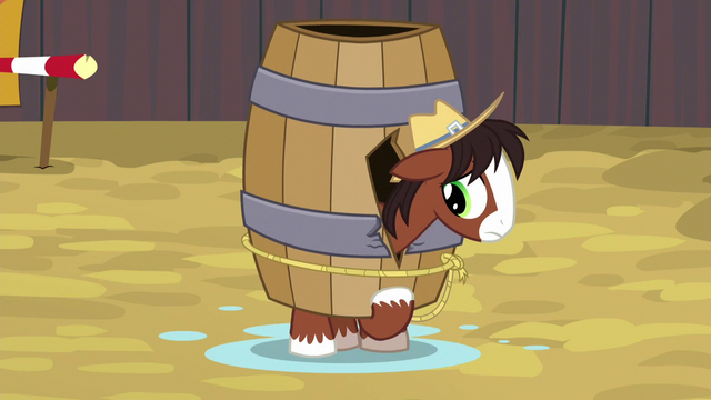File:Young Trouble Shoes stuck in a barrel S5E6.png