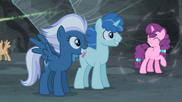 File:Night Glider, Party Favor, and Sugar Belle back to normal S5E2.png
