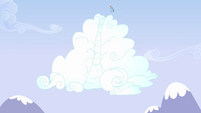 Rainbow Dash about to go down cloud slide S3E7