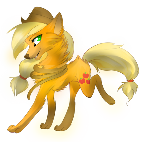 File:FANMADE applejack wolf by affanita-d5kw6av.png