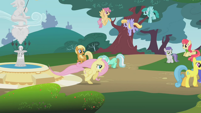 File:Fluttershy running through the town S1E7.png