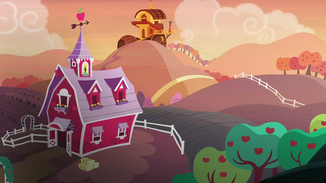 File:Sweet Apple Acres at sunset S5E17.png