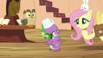 "Fluttershy and Spike ""does this mean you'll do it?"" S03E11"
