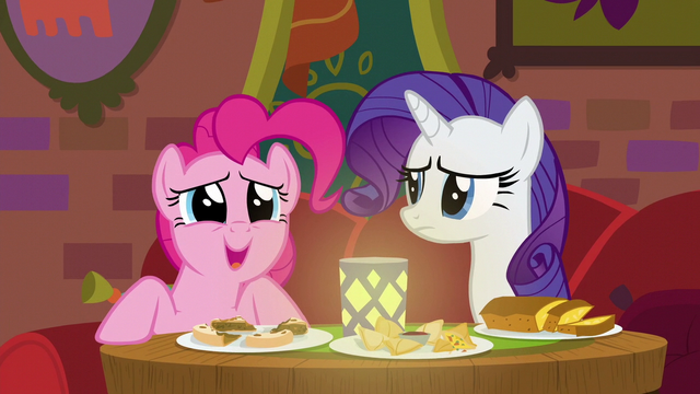 "File:Pinkie Pie blissful ""so good!"" S6E12.png"